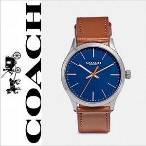 Coach Men's Watch Baxter W1583 Leather Brown